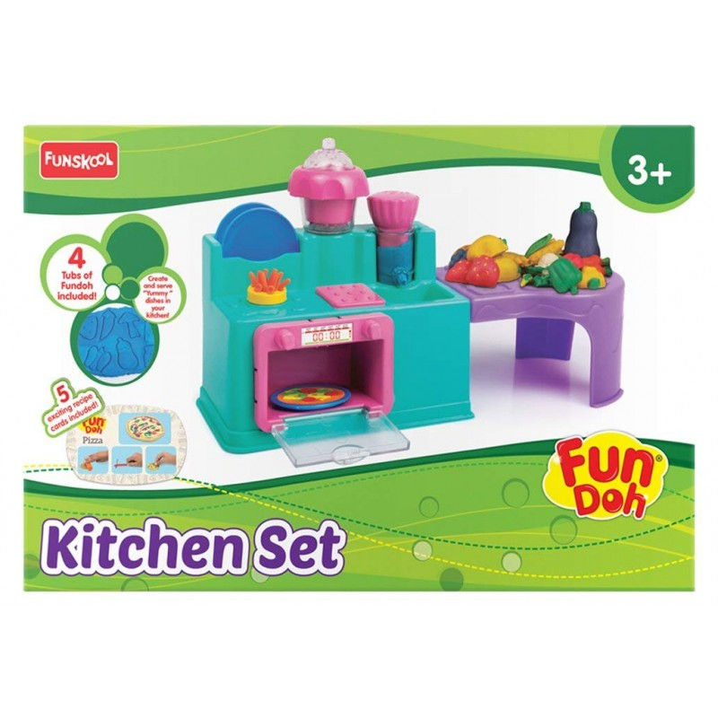 Funskool Fun Doh Kitchen Set Kukus Toys